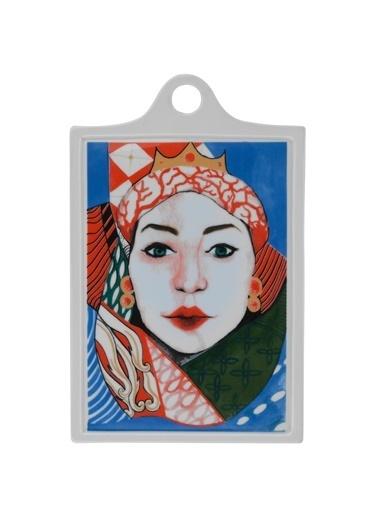 Kütahya Porselen Sophia Femina 26X16 Peynir Tabağı Renkli